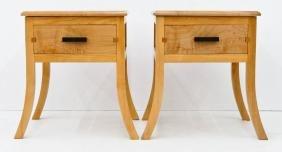 Pair Northwest Wood Designs Maple Night Stands