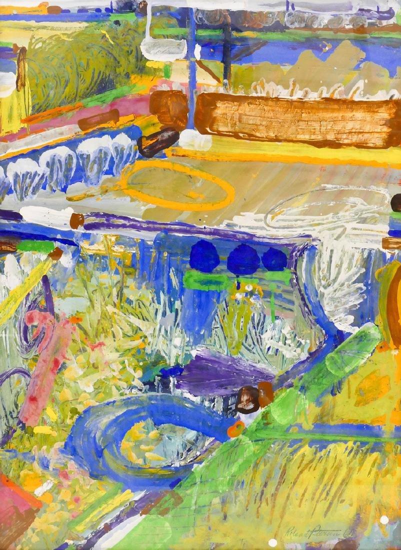 Roland Petersen (b.1926 California) ''Fields of Play''