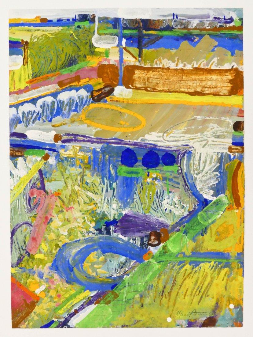 Roland Petersen (b.1926 California) ''Fields of Play'' - 5