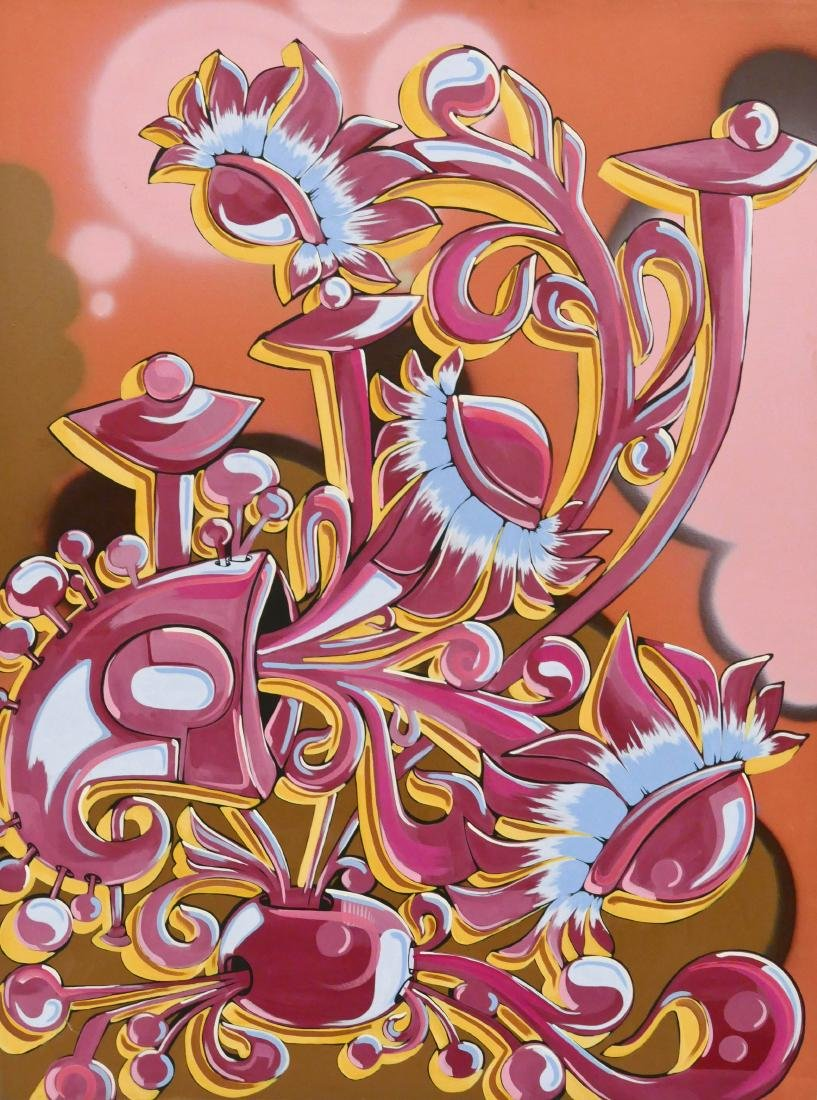 Kenji (21st Cent. Japanese) ''The Hybred'' Acrylic on