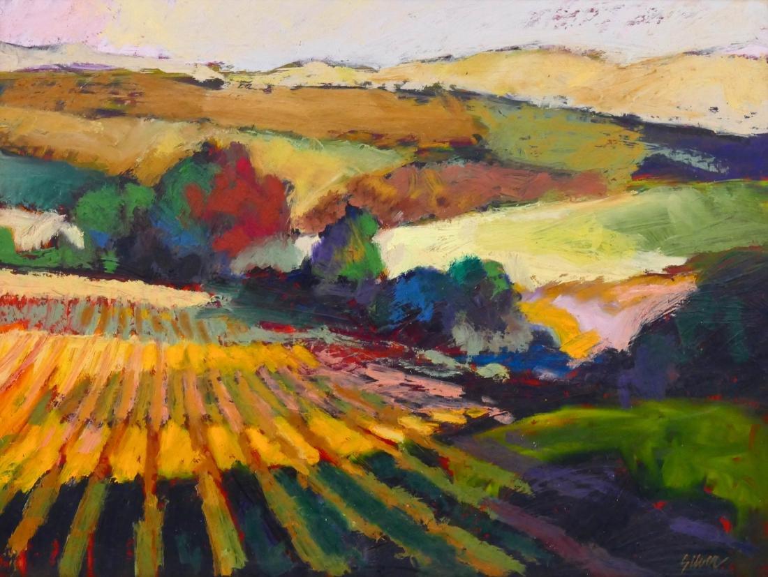 Lyle Silver (1930-2015 Washington) ''Valley Fields''