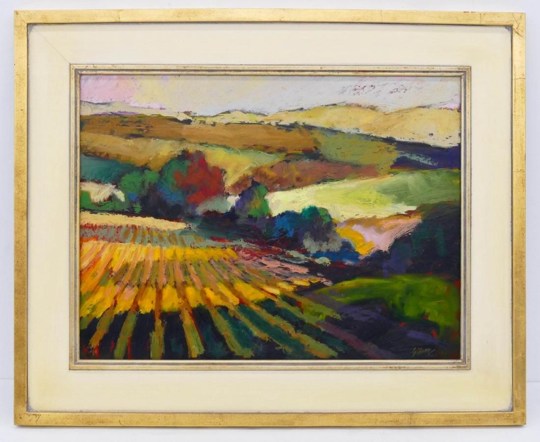 Lyle Silver (1930-2015 Washington) ''Valley Fields'' - 2