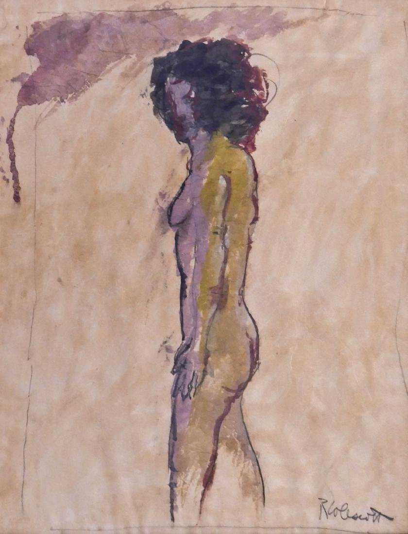 Robert Colescott (1925-2009 Oregon) Standing Nude Mixed