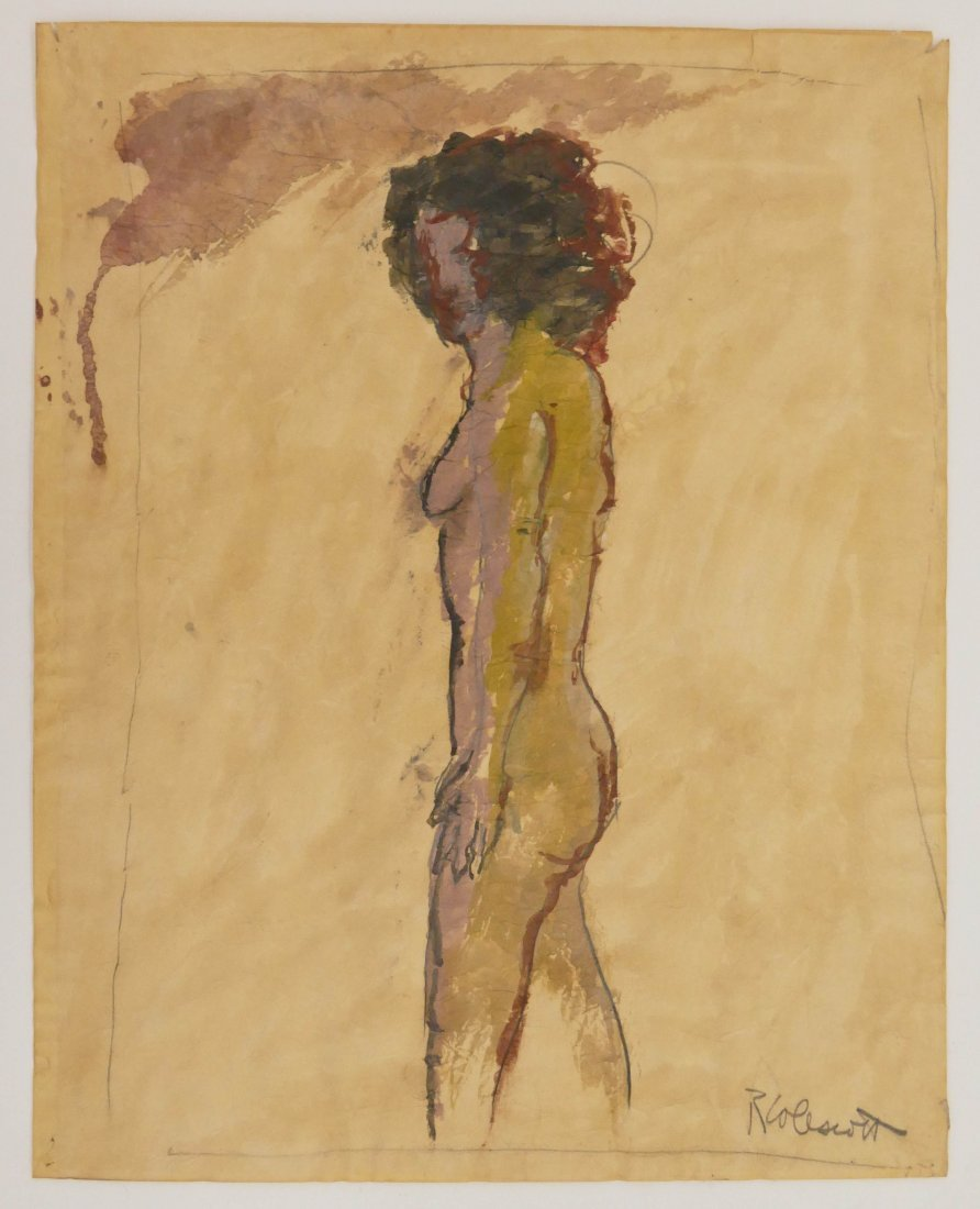 Robert Colescott (1925-2009 Oregon) Standing Nude Mixed - 4