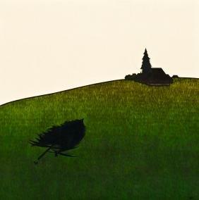 Art Hansen (b.1929 Washington) Northwest Landscape with