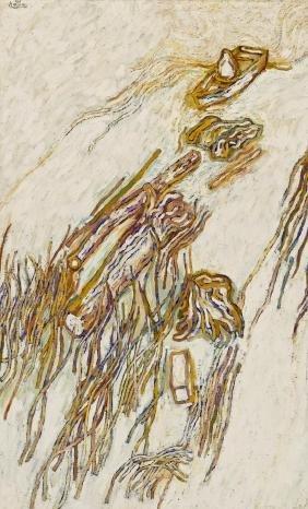 Art Hansen (b.1929 Washington) Abstract River Scene