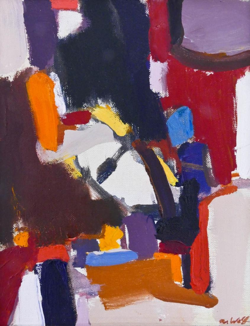 Allen Wolf (1925-2011 Washington) Untitled #32 Abstract