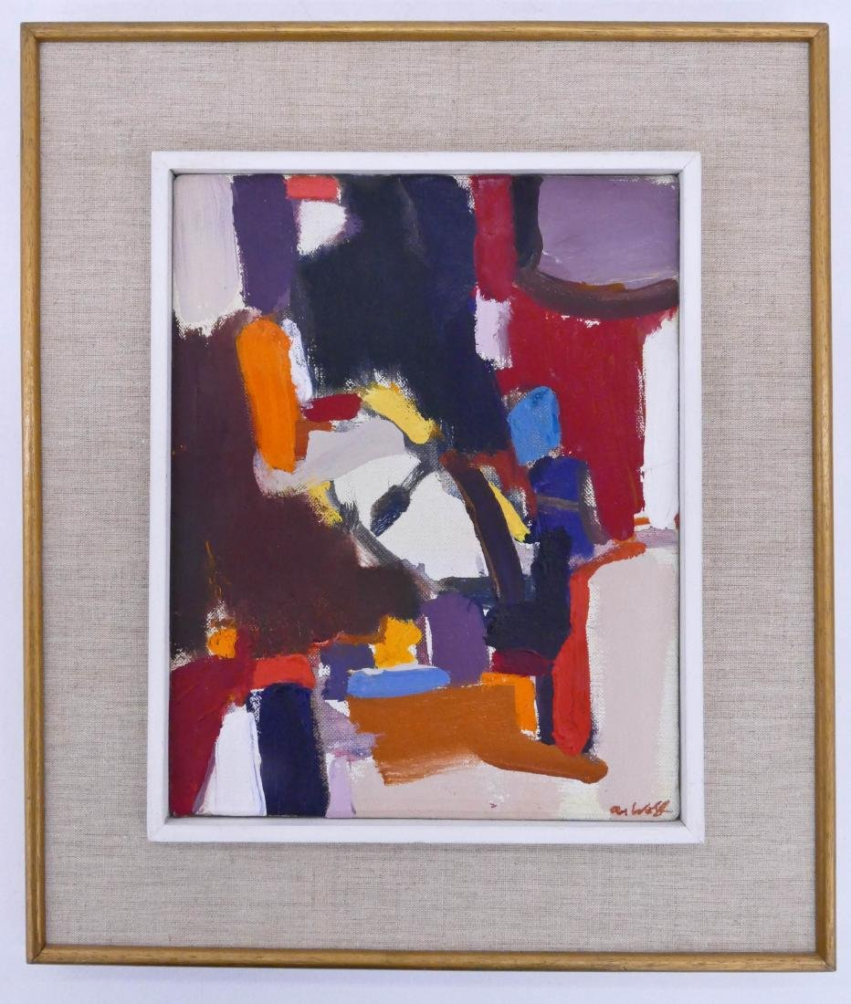 Allen Wolf (1925-2011 Washington) Untitled #32 Abstract - 2