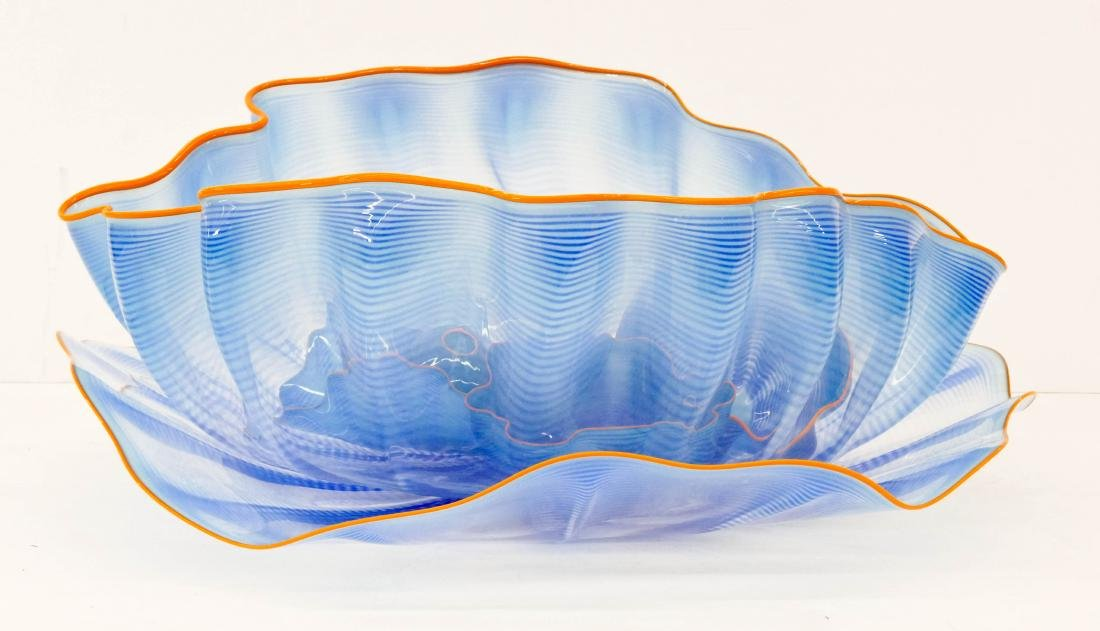Dale Chihuly (b.1941 Washington) Honeysuckle Blue with - 3