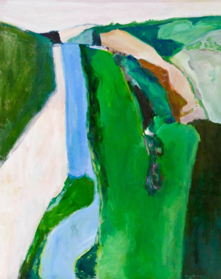 Maury Haseltine (1925-1998 Oregon) ''Dordogne'' Acrylic