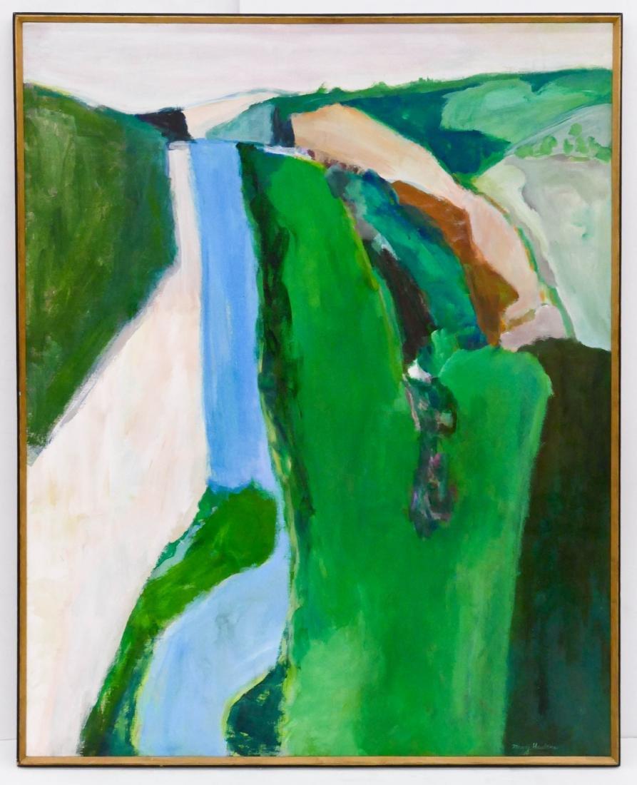Maury Haseltine (1925-1998 Oregon) ''Dordogne'' Acrylic - 2