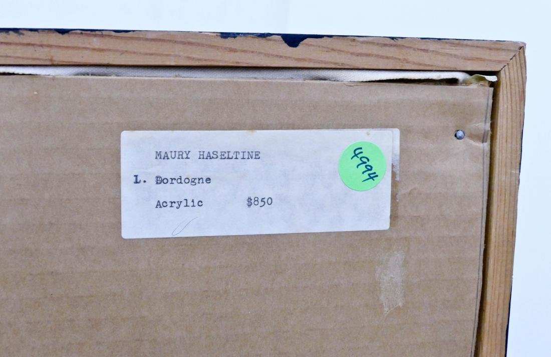 Maury Haseltine (1925-1998 Oregon) ''Dordogne'' Acrylic - 3