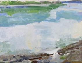 Maury Haseltine (1925-1998 Oregon) ''Flapjack Point''