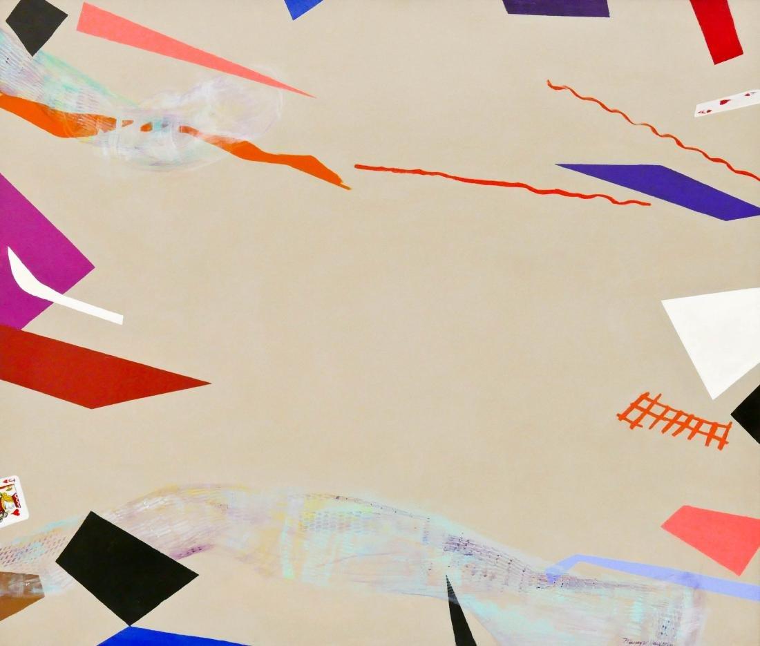 Maury Haseltine (1925-1998 Oregon) ''Ace'' Acrylic on