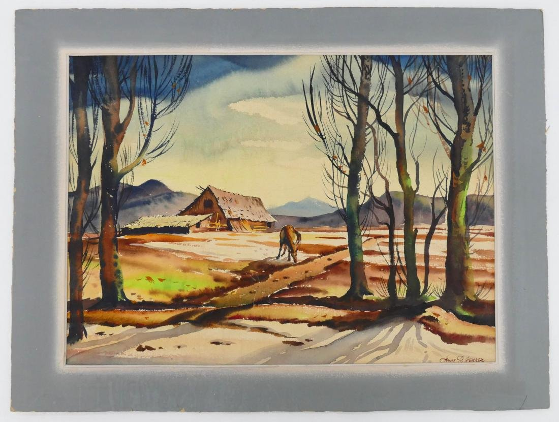 Arne Jensen (1906-1993 Washington) Northwest Landscape - 2