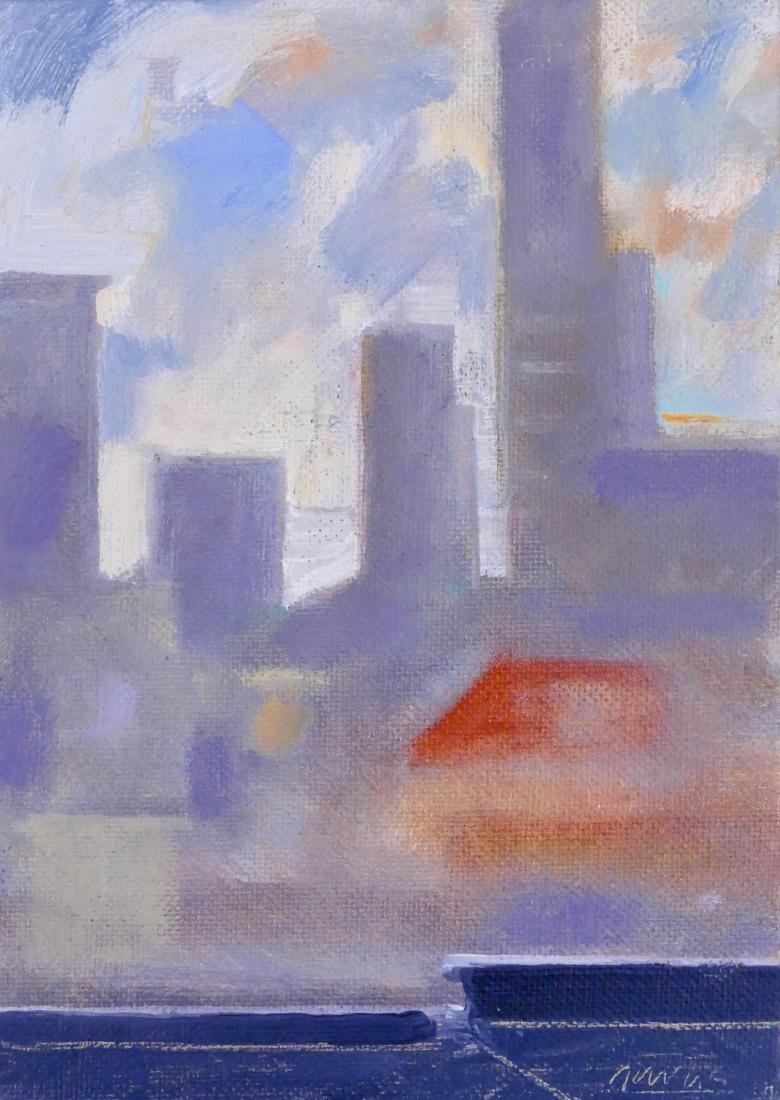 Paul Havas (1940-2012 Washington) Cityscape Oil on