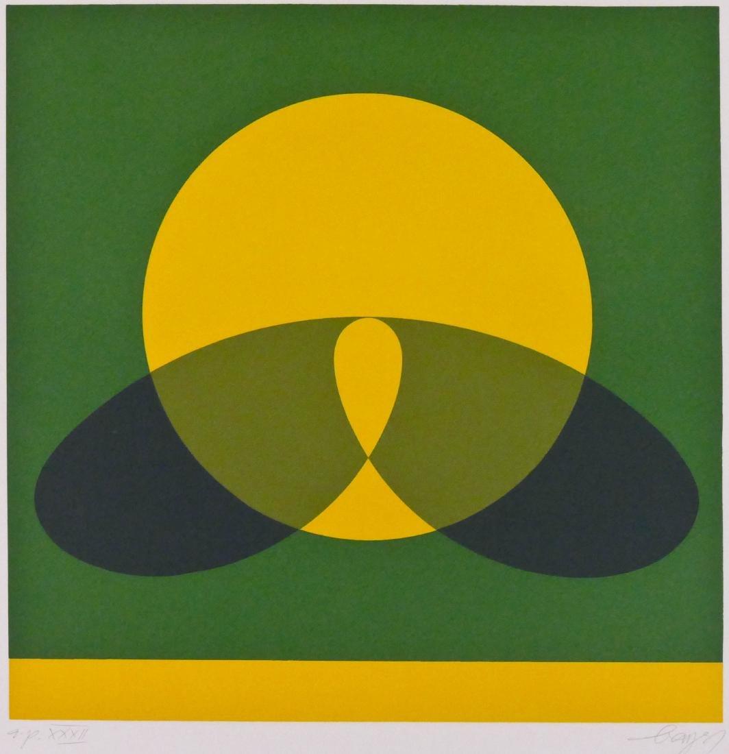 Herbert Bayer (1900-1985 California) Untitled Geometric