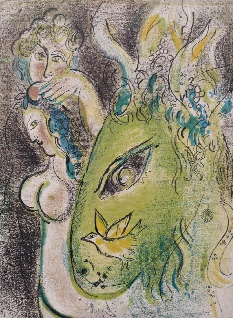 Marc Chagall ''Paradise II'' 1960 Color Lithograph