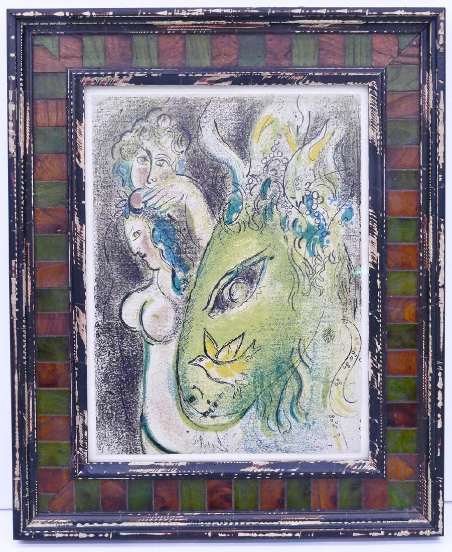 Marc Chagall ''Paradise II'' 1960 Color Lithograph - 2