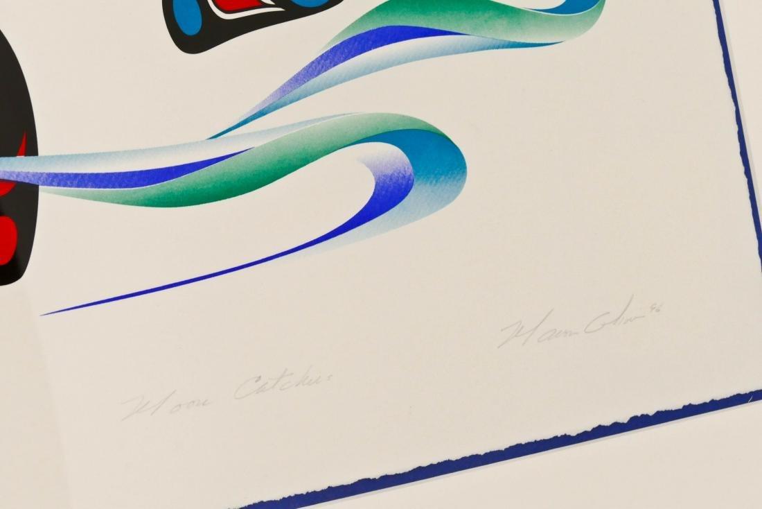 Marvin Oliver ''Moon Catcher'' 1996 Embossed Serigraph - 3