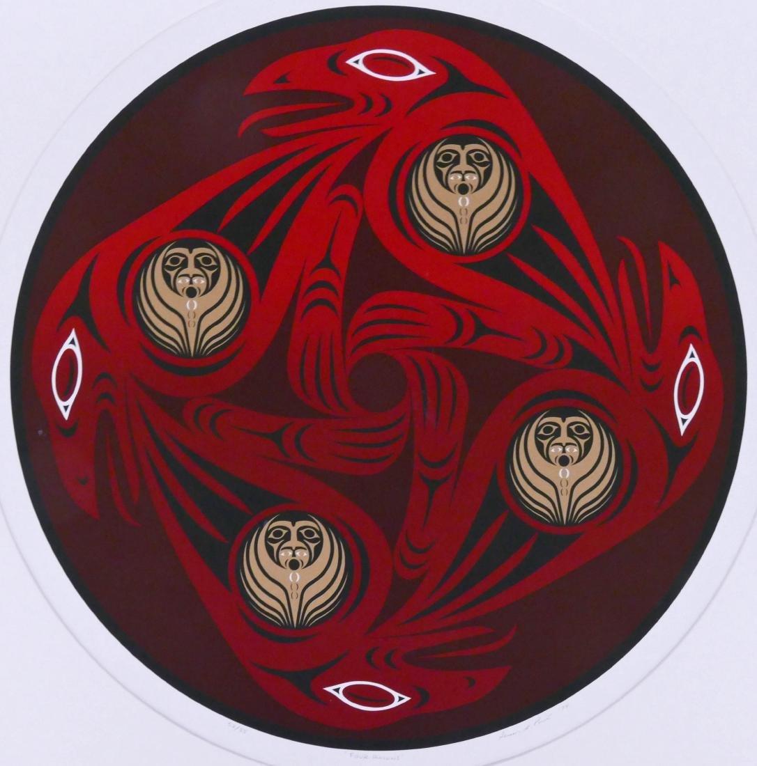 Susan Point ''Four Ravens'' 1994 Serigraph 17''x17''