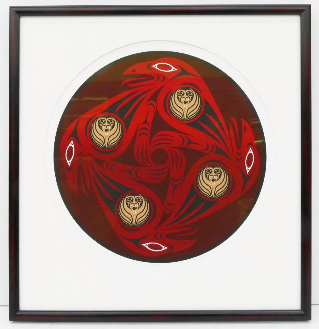Susan Point ''Four Ravens'' 1994 Serigraph 17''x17'' - 2