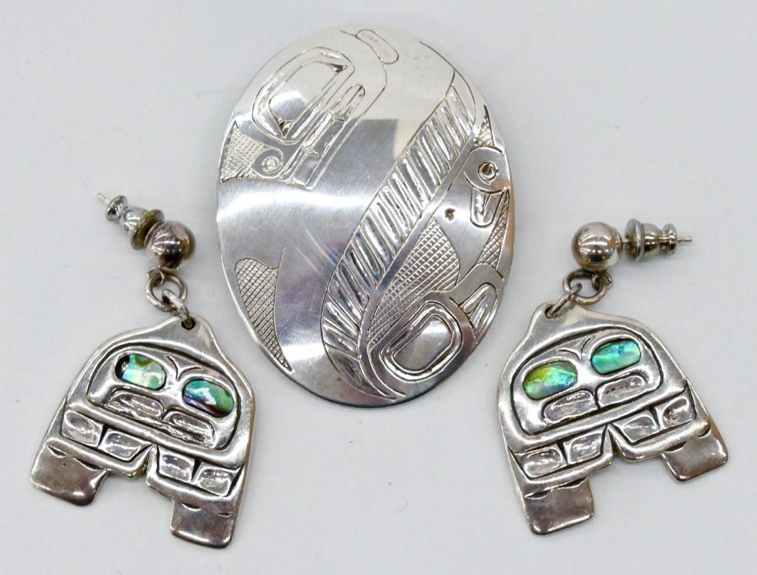3pc Patty Fawn & Danny Dennis Northwest Coast Jewelry.