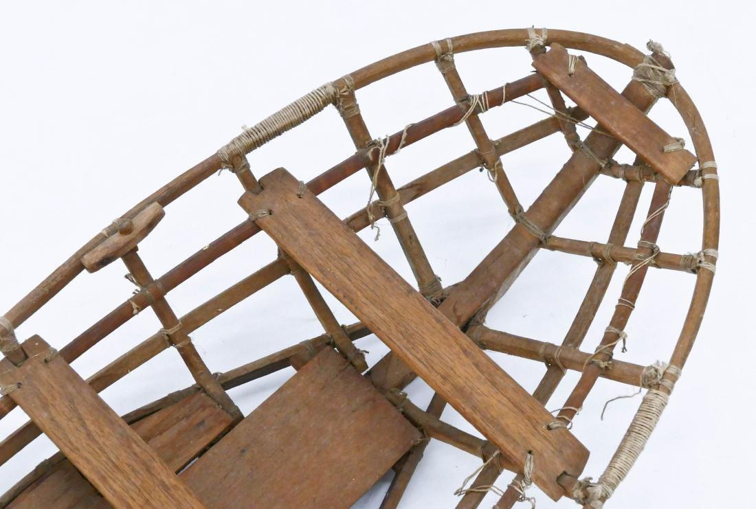 Old Unangax Eskimo Nigaalax Canoe Boat Model - 2