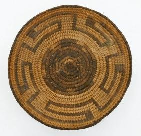 Old Pima Indian Basketry Tray 8.5''x1.5''. Shallow