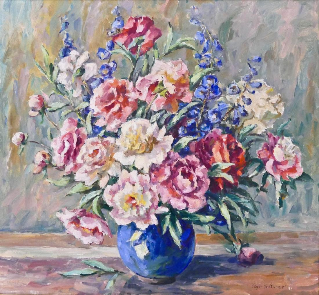 Edgar Forkner (1867-1945 Washington) Roses Still Life