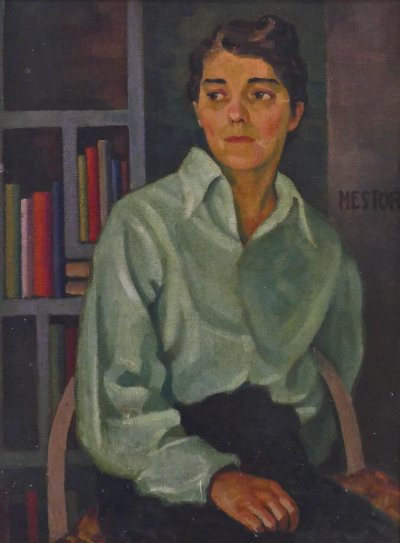 Bernard Nestor (b.1903 Washington) Female Portrait Oil