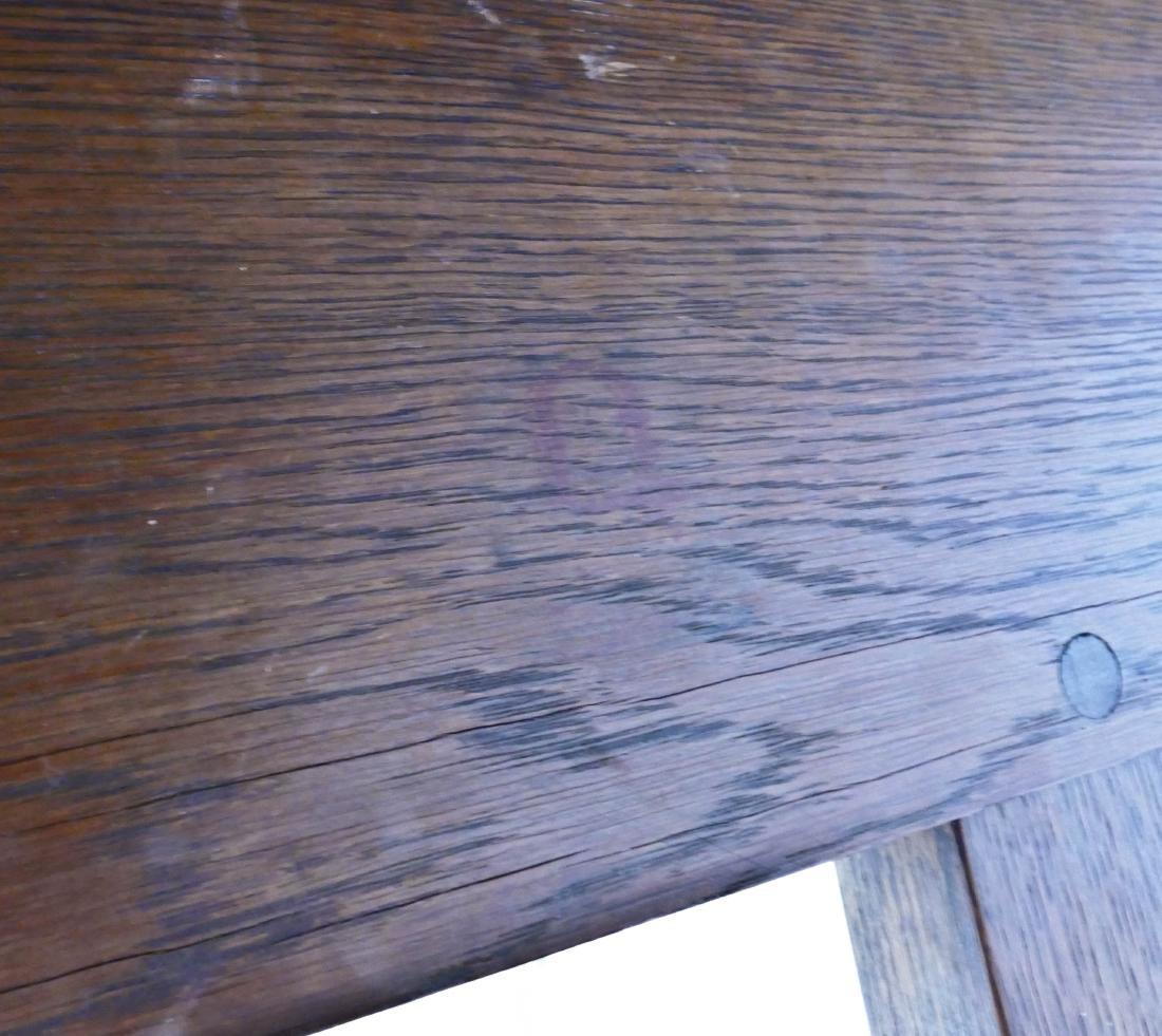 Gustav Stickley Oak Trestle Table 29''x48''x29.5''. - 3