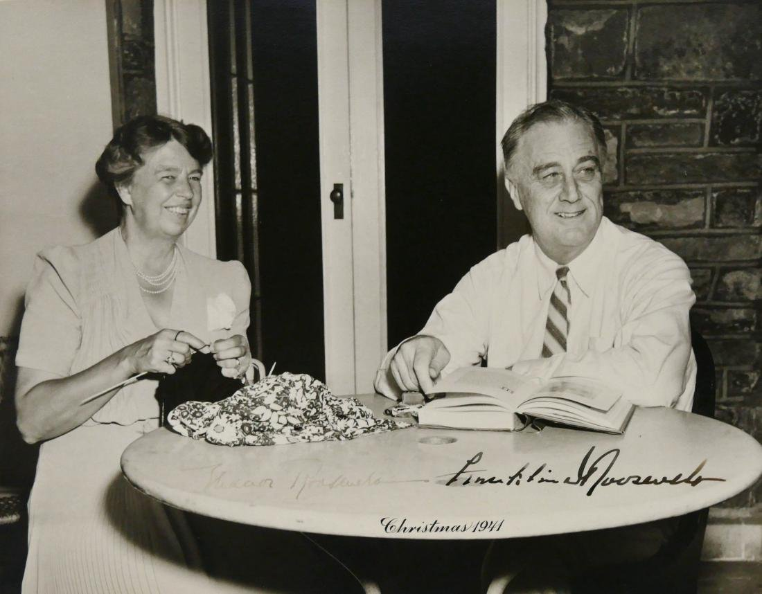 1941 Franklin & Eleanor Roosevelt Autographed Photo