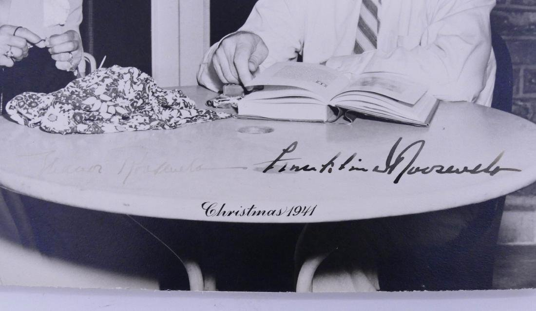 1941 Franklin & Eleanor Roosevelt Autographed Photo - 2