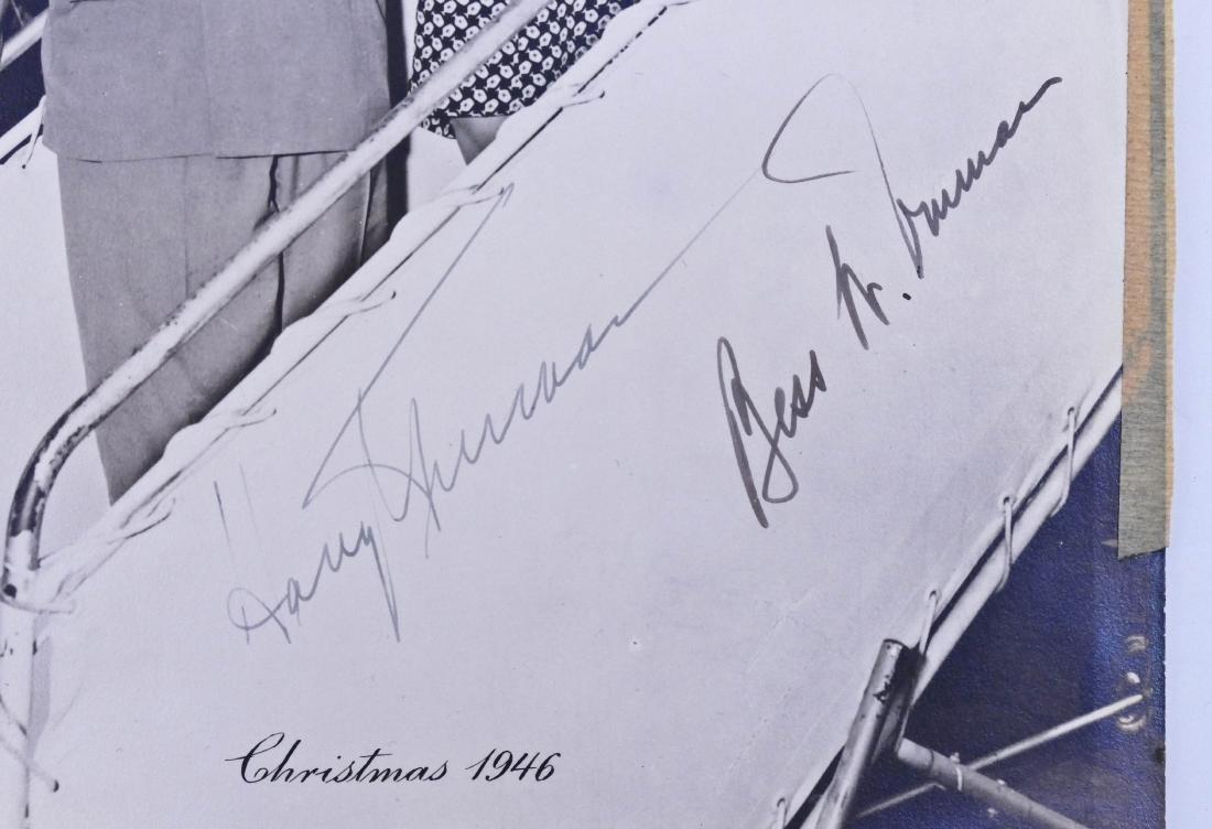 1946 Harry & Bess Truman Autographed Photo 10''x8''. - 2