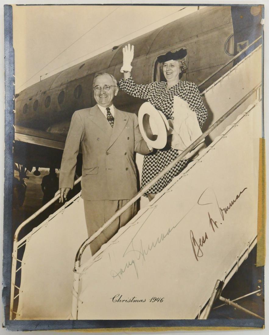 1946 Harry & Bess Truman Autographed Photo 10''x8''. - 3