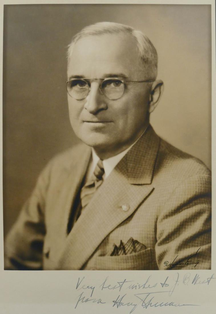 Harry S. Truman Autographed Photo 13''x9.5'' Sheet.