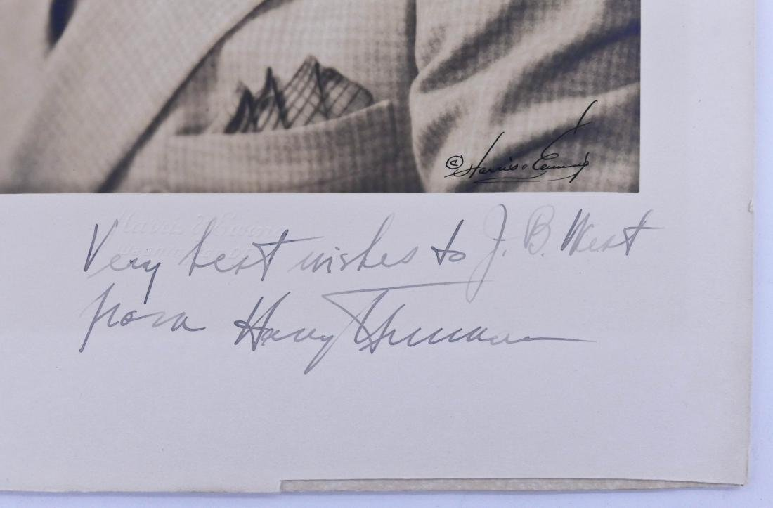 Harry S. Truman Autographed Photo 13''x9.5'' Sheet. - 2