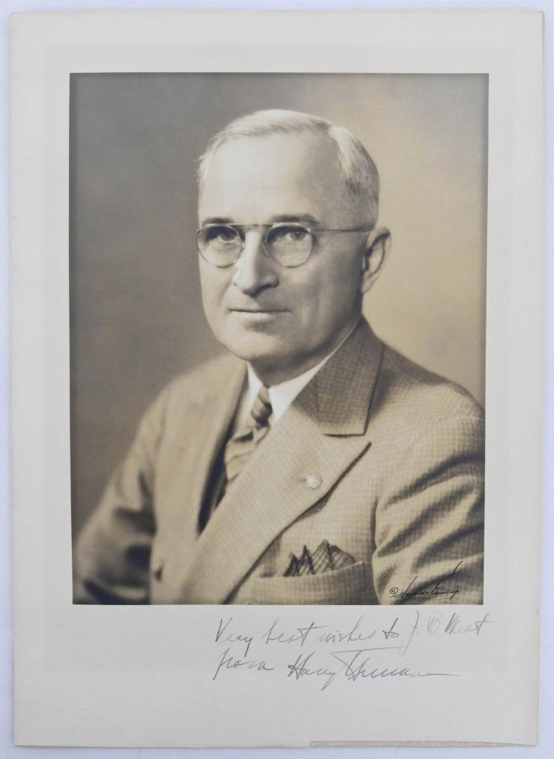 Harry S. Truman Autographed Photo 13''x9.5'' Sheet. - 3