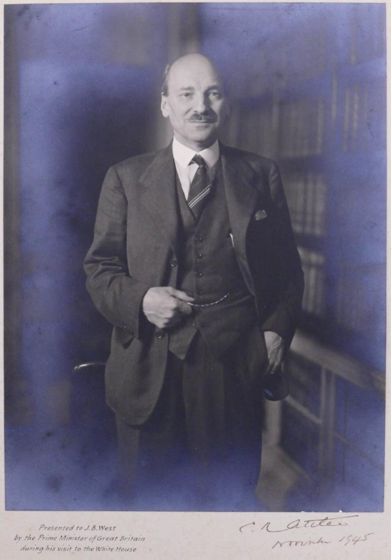 1945 Clement Attlee British Prime Minister Autographed