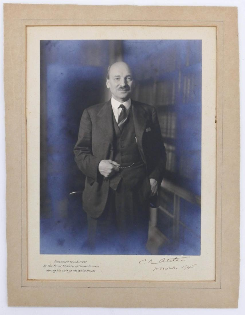 1945 Clement Attlee British Prime Minister Autographed - 3