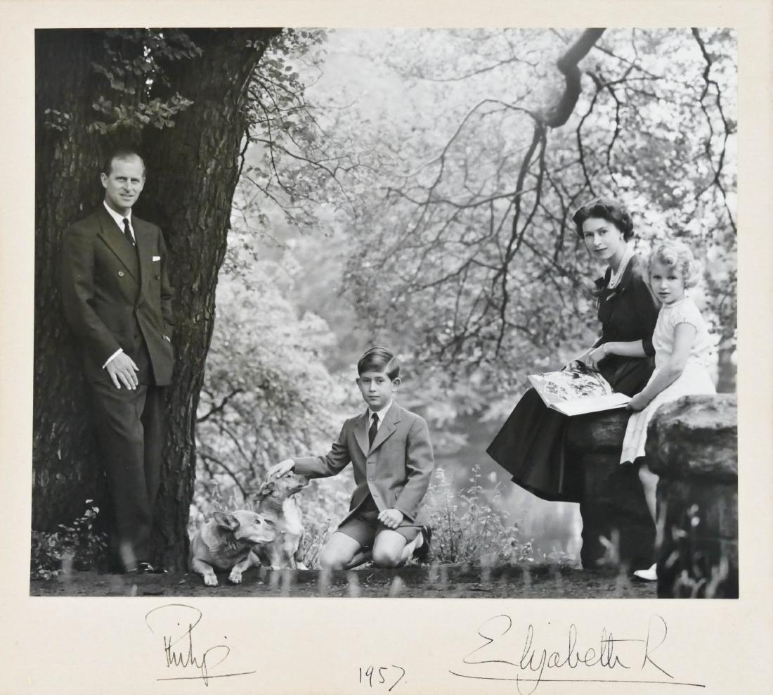 1957 Queen Elizabeth II & Prince Philip Autographed