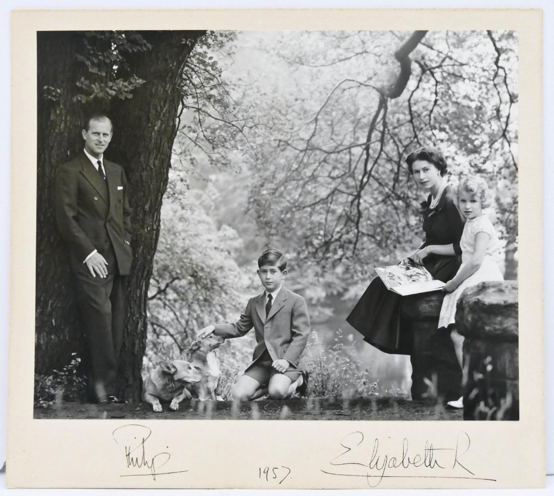 1957 Queen Elizabeth II & Prince Philip Autographed - 2