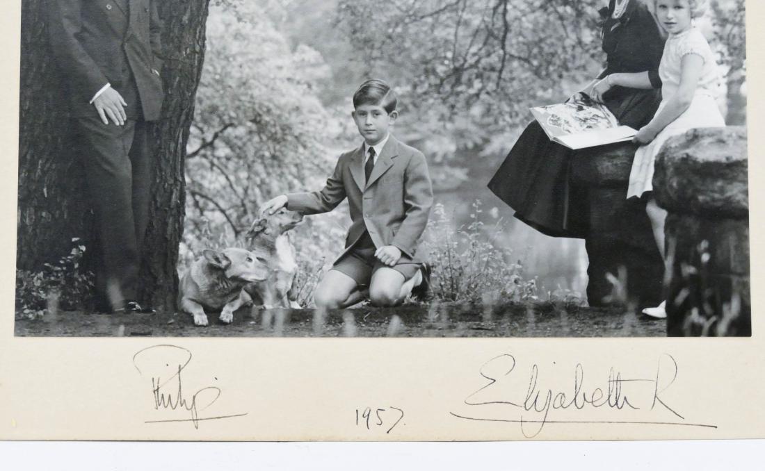 1957 Queen Elizabeth II & Prince Philip Autographed - 3