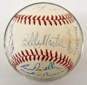 1970's New York Yankees Team Autographed Baseball.