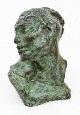 After Auguste Rodin ''Tete de la Luxure'' Bronze