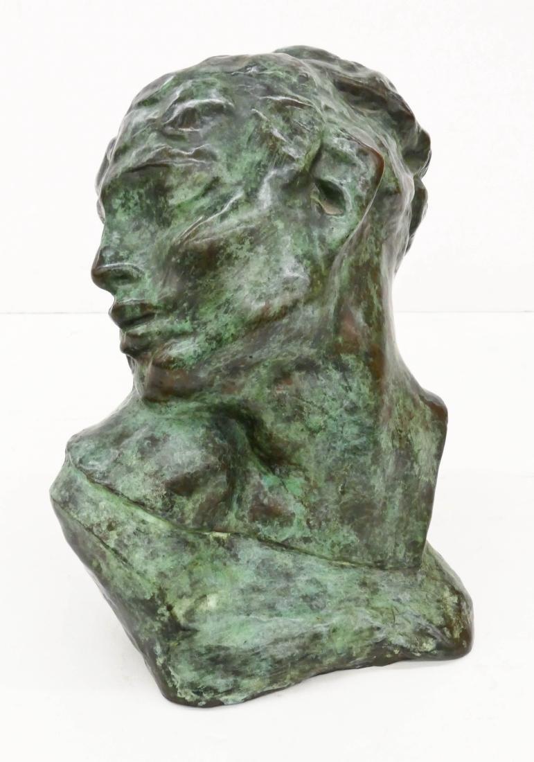After Auguste Rodin ''Tete de la Luxure'' Bronze