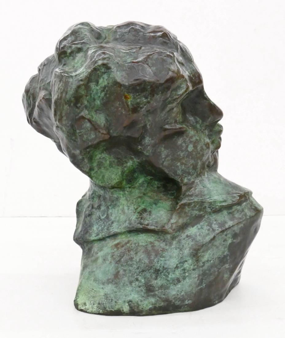 After Auguste Rodin ''Tete de la Luxure'' Bronze - 2