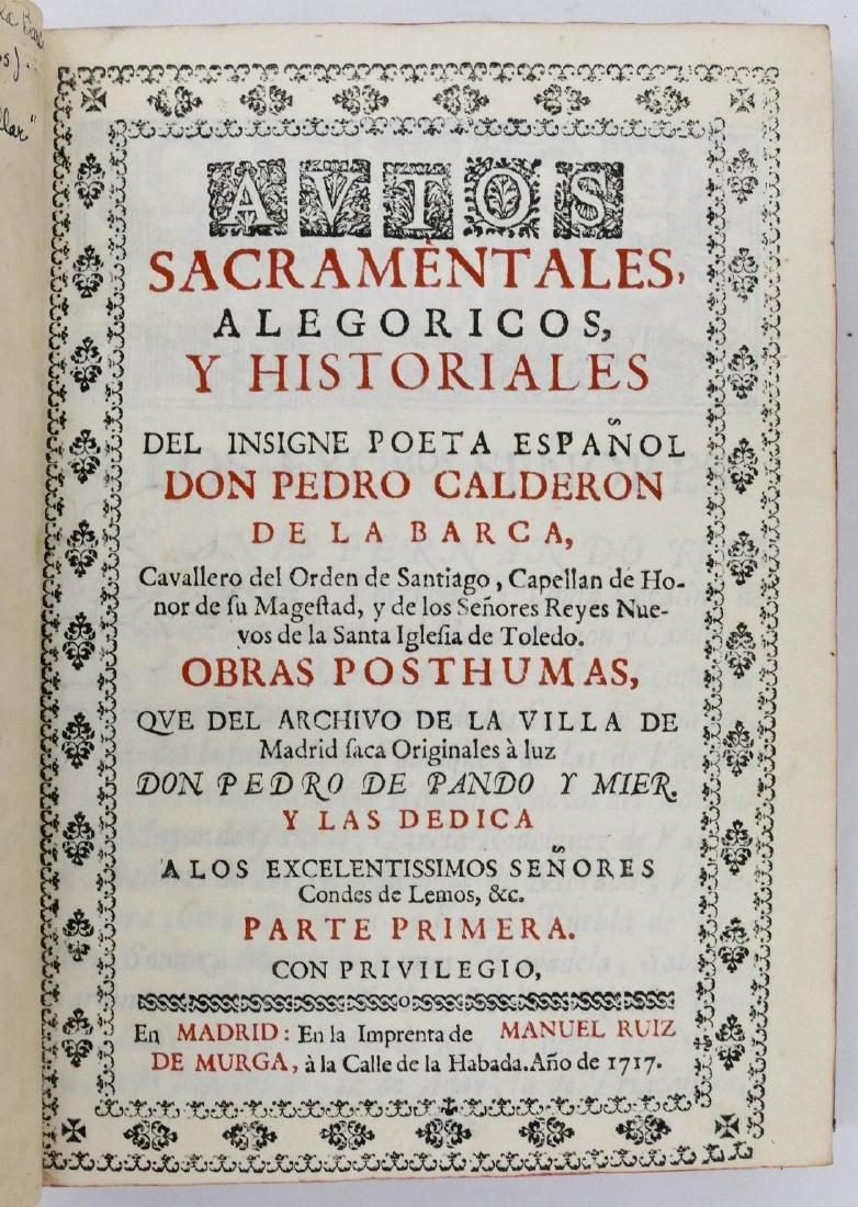 Pedro Calderon de la Barca 1717 ''Sacramentales, Alegor - 4