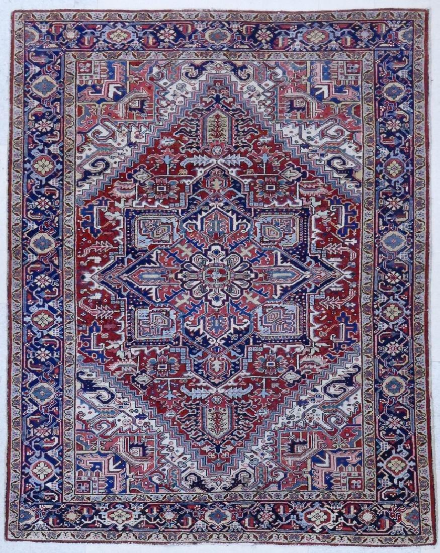 Semi Antique Heriz Persian Oriental Rug 8'x10'.